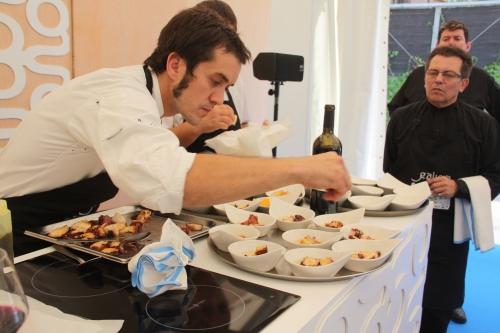Chef Alvaro Villasante Degustación