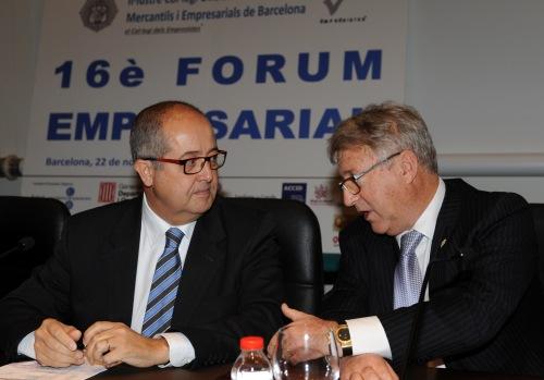 Felip Puig y Eduard Soler en la apertura del 16è Fòrum Empresarial