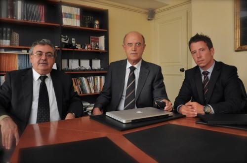 De izquierda a derecha: Josep Puigvert, José Antonio Ballarín y Pere Vandellós